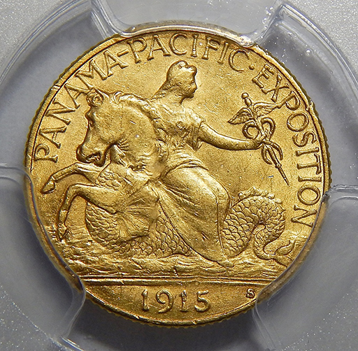 1915 S Panama Pacific Pcgs Ms63 2 50