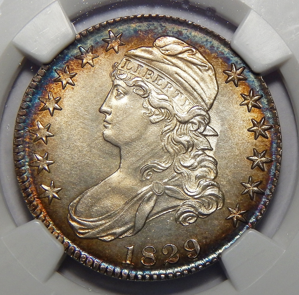 1829 Ngc Ms66 Capped Bust Half Dollar