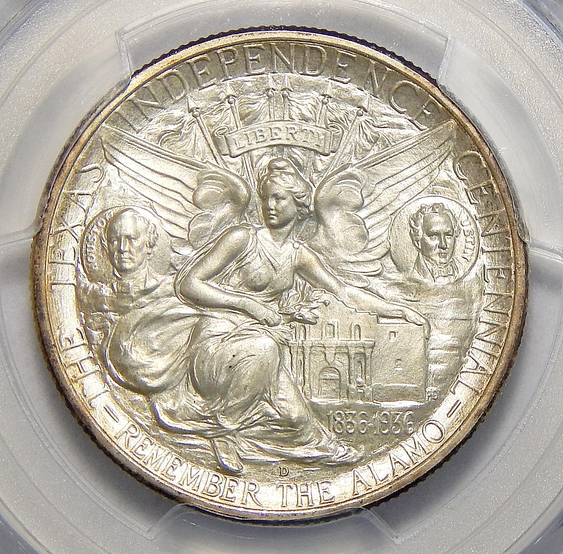 1937 D Pcgs Ms67 Texas Half Dollar