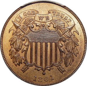 1864-1873 Two Cent