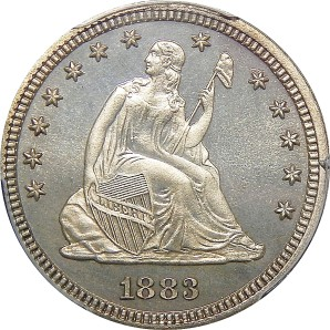 1838-1891 Liberty Seated Quarter
