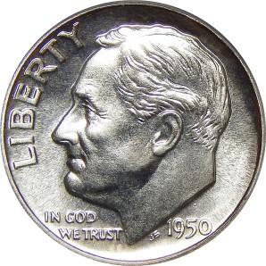 1946-Date Roosevelt Dime