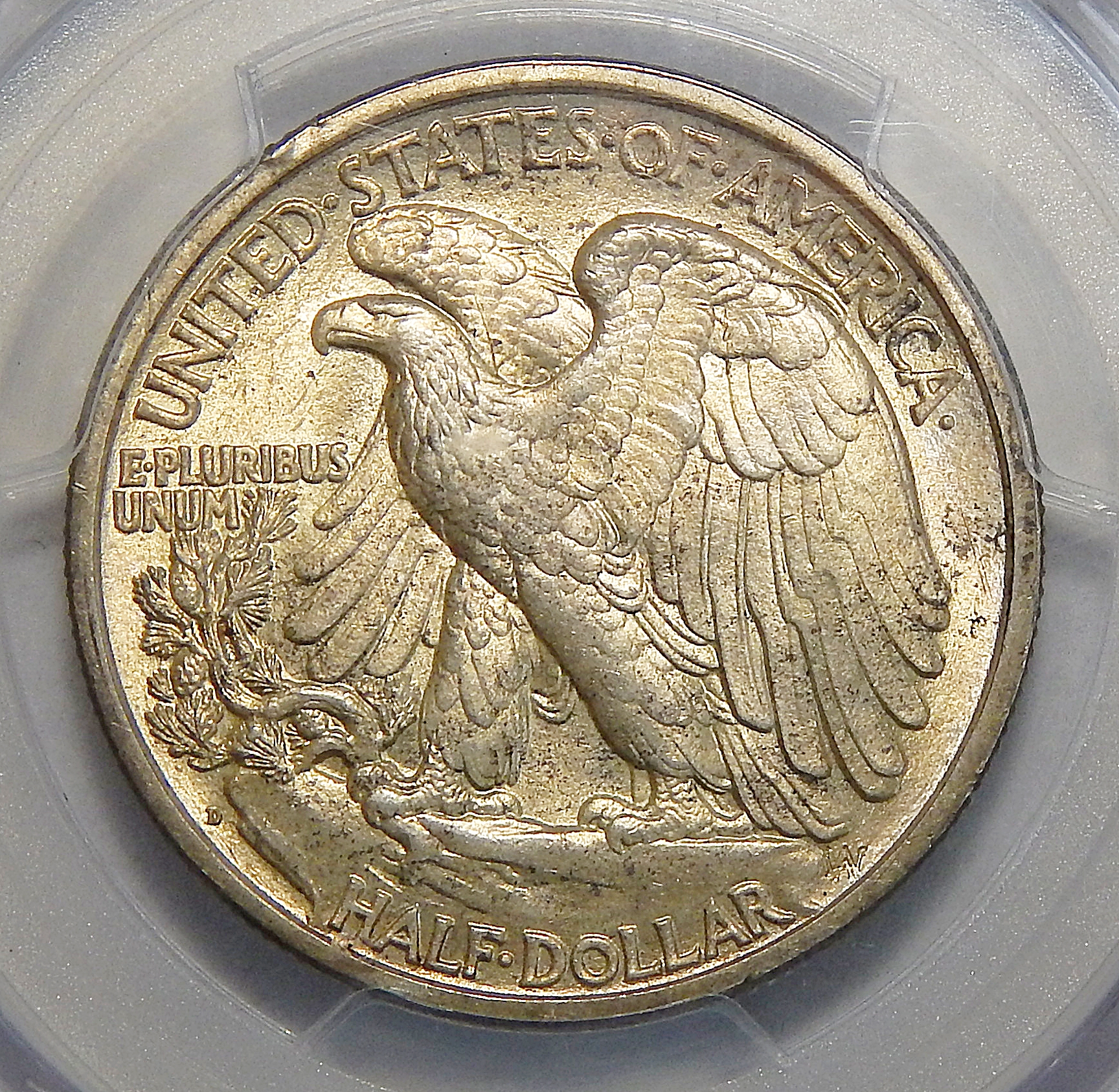 1918 D Pcgs Ms64 Walking Liberty Half Dollar