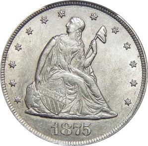 Twenty Cent Piece 1875-1878