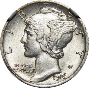 1916-1945 Mercury Dime
