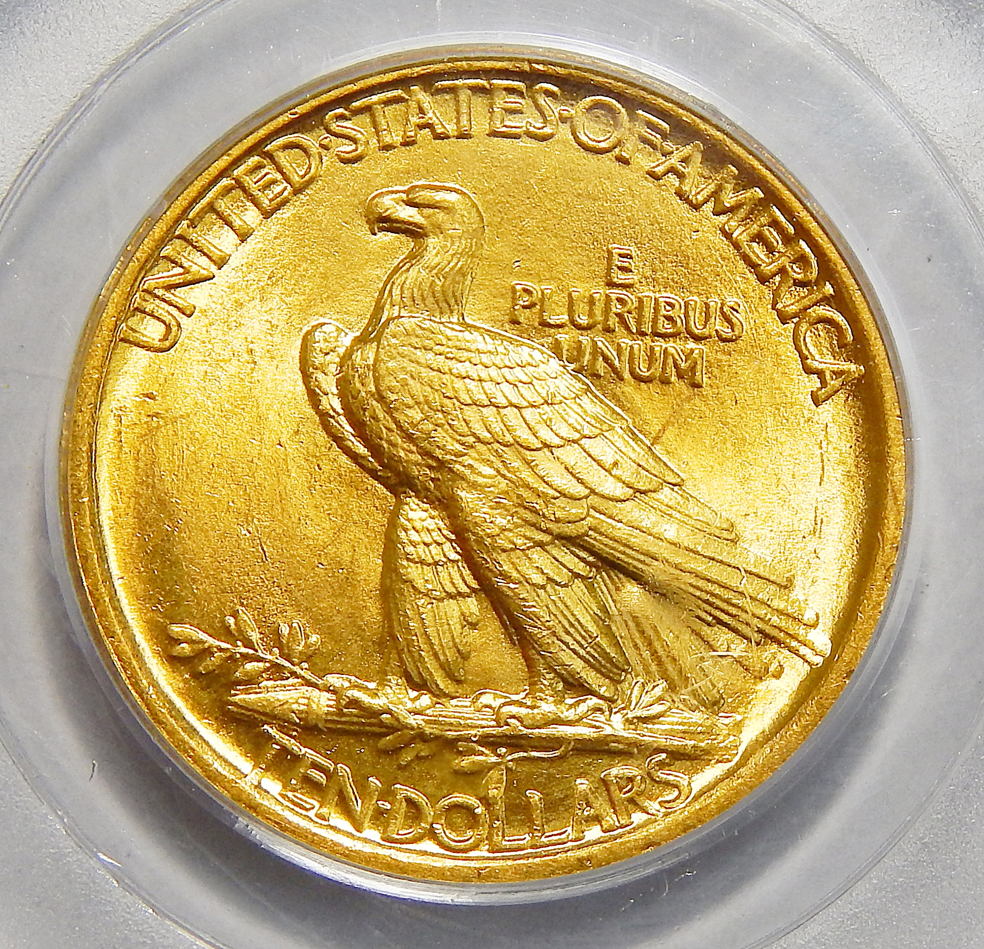 1907 Pcgs Ms64 No Motto 10 Indian Gold