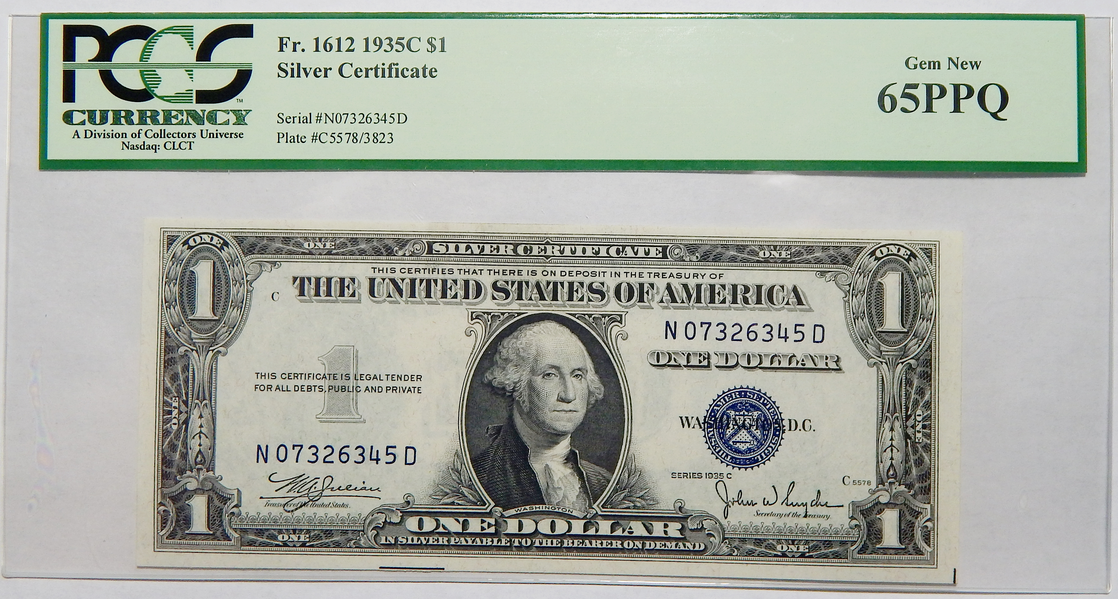Silver certificates currency for sale on collectors corner 65 ppq 1935c 1 silver certificate 1betcityfo Images