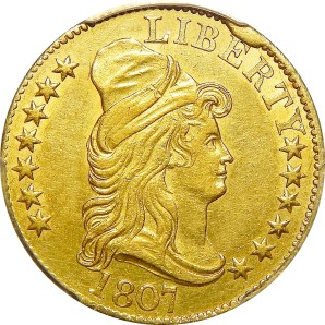 $5 Early Gold/Lib, 1795-1907