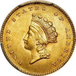 $1 Gold, 1849-1889