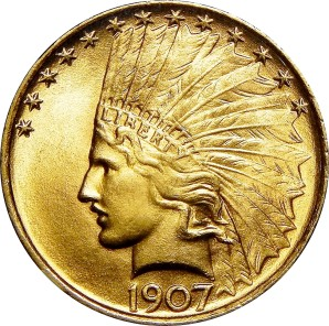 $10 Indian Gold, 1907-1933