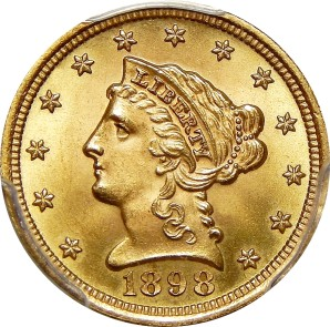$2.5 Early Gold/Lib, 1796-1907