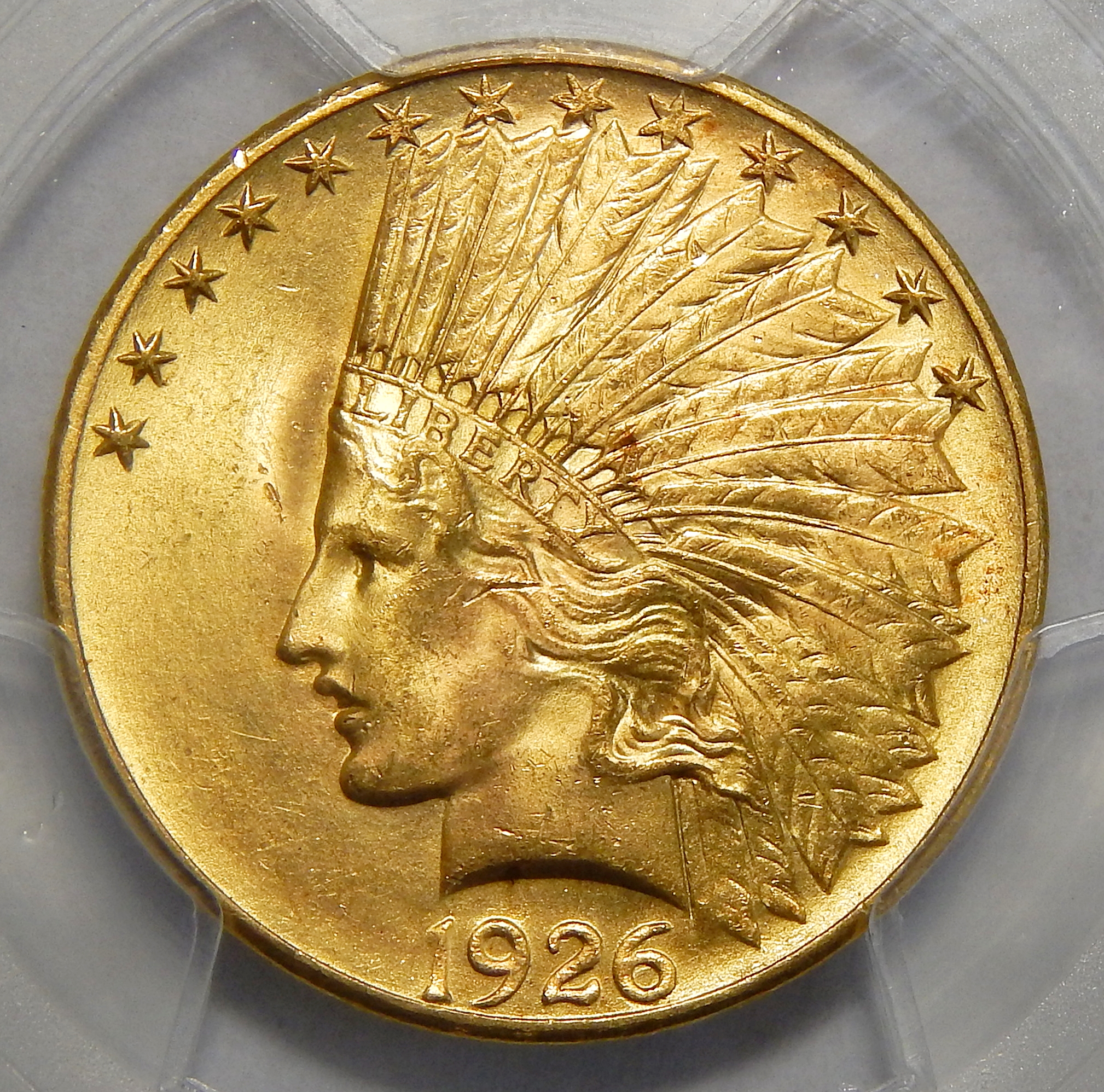1926 Pcgs Ms65 10 Indian Gold
