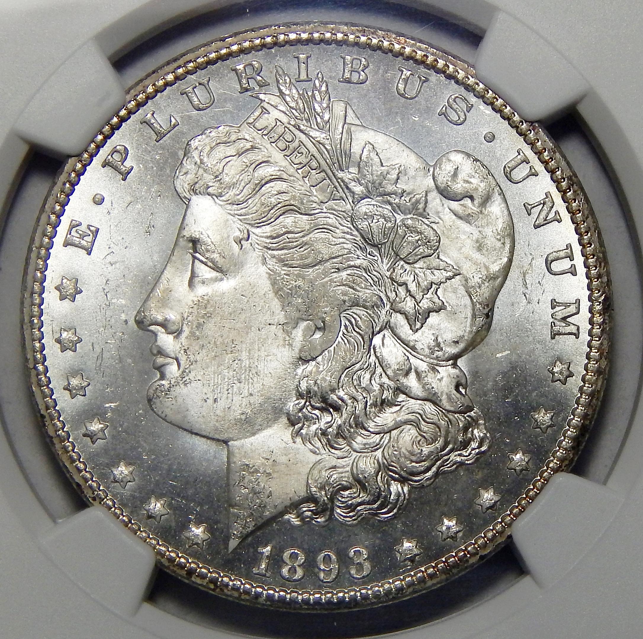 1893 Cc Ngc Ms64 Morgan Dollar