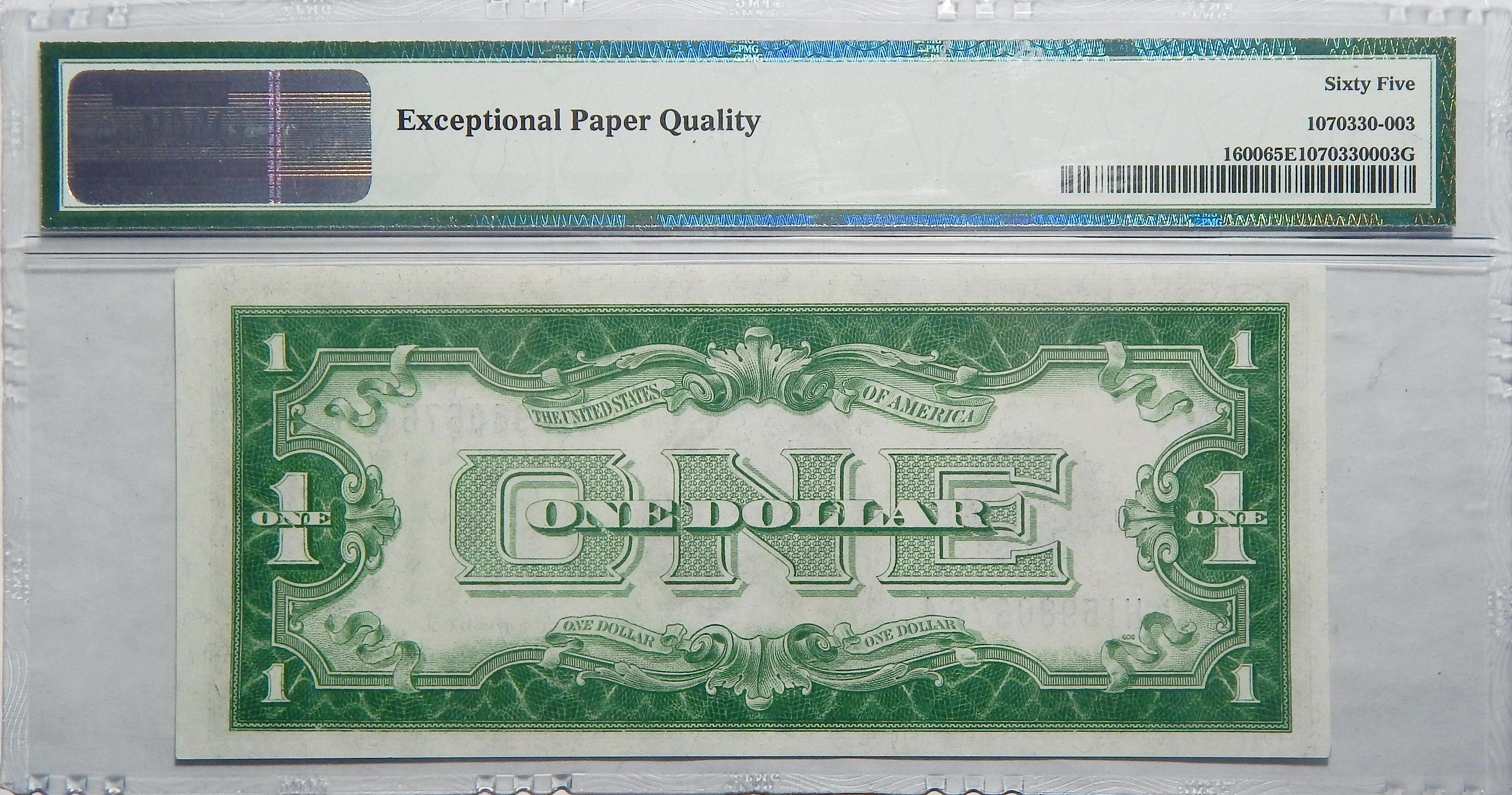 1928 Pmg 65 Epq 1 Silver Certificate Fr1600
