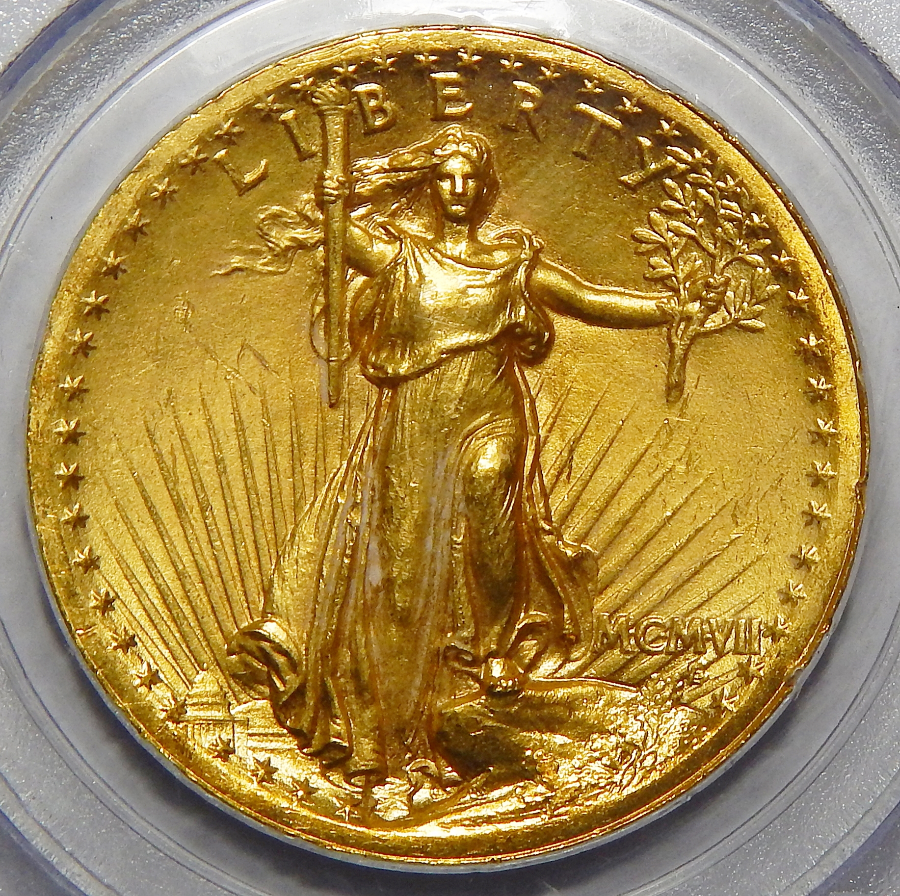 1907 Pcgs Ms63 20 High Relief Wire Edge St Gauden