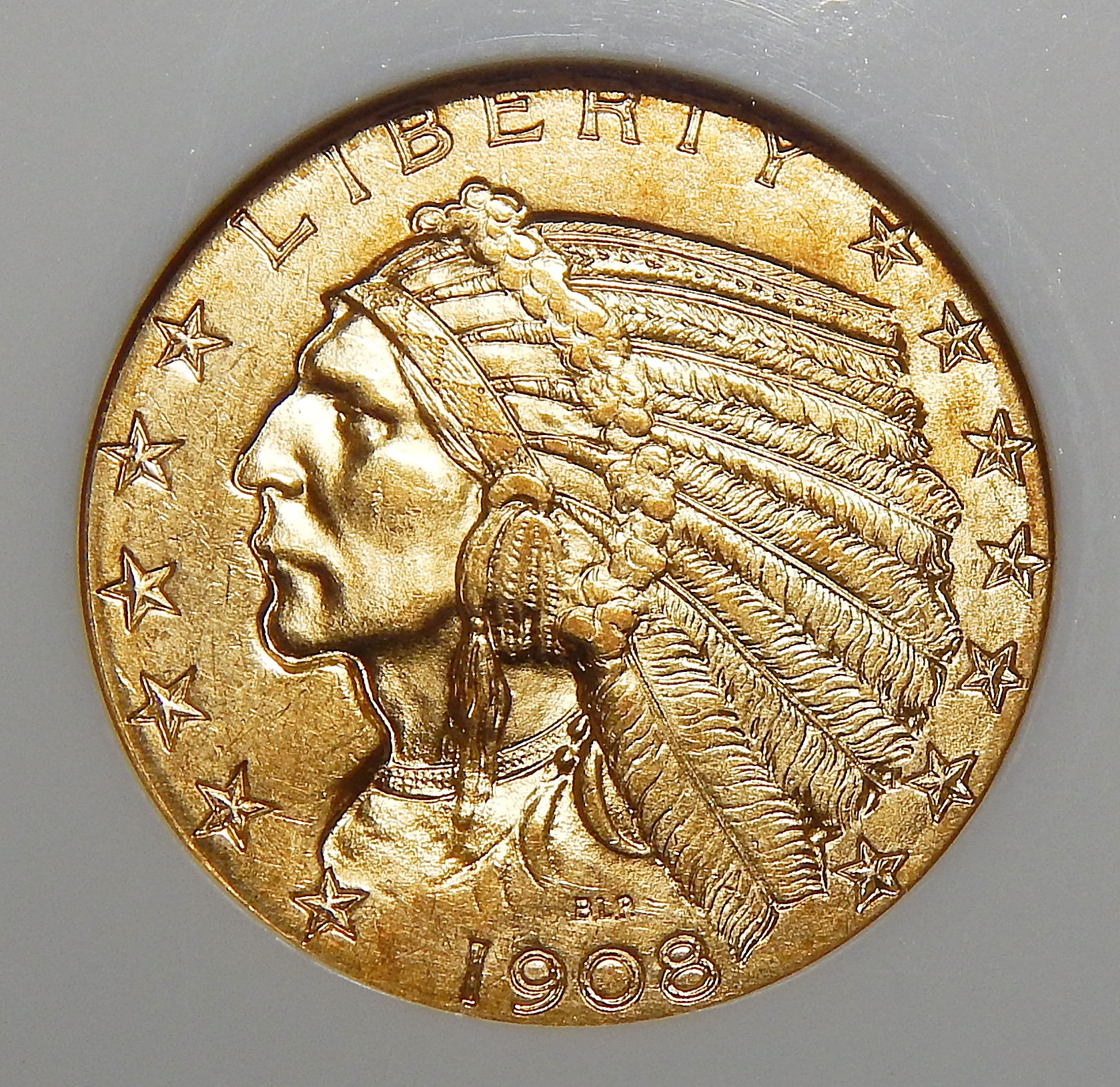 1905 Ngc Ms64 5 Indian Head Gold