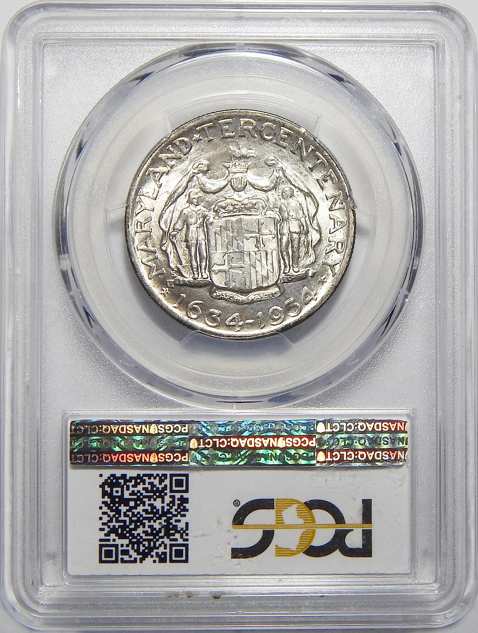 1934 PCGS MS64 MARYLAND HALF DOLLAR
